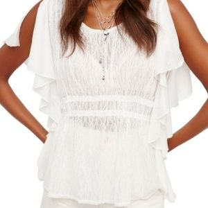NWT Free People June Ivory Top Size M